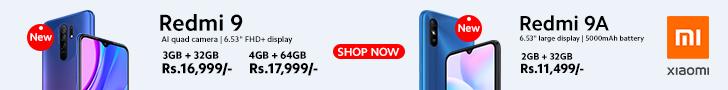 Redmi 9 banner publicitario para PC
